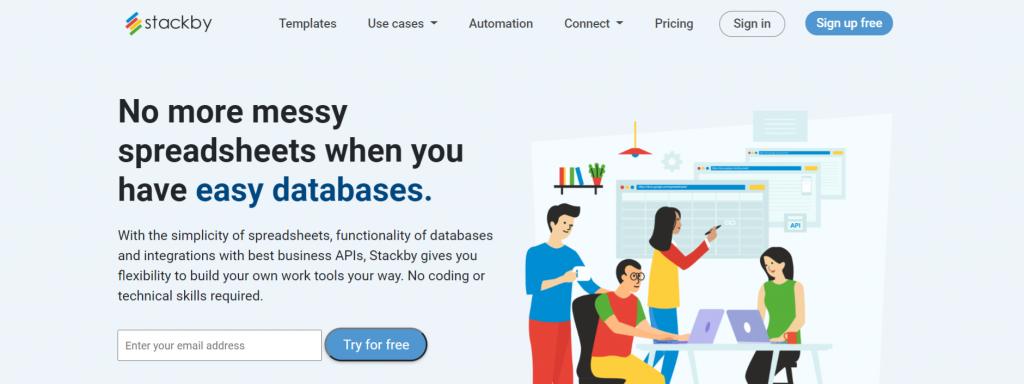 Stackby: Microsoft excel alternative