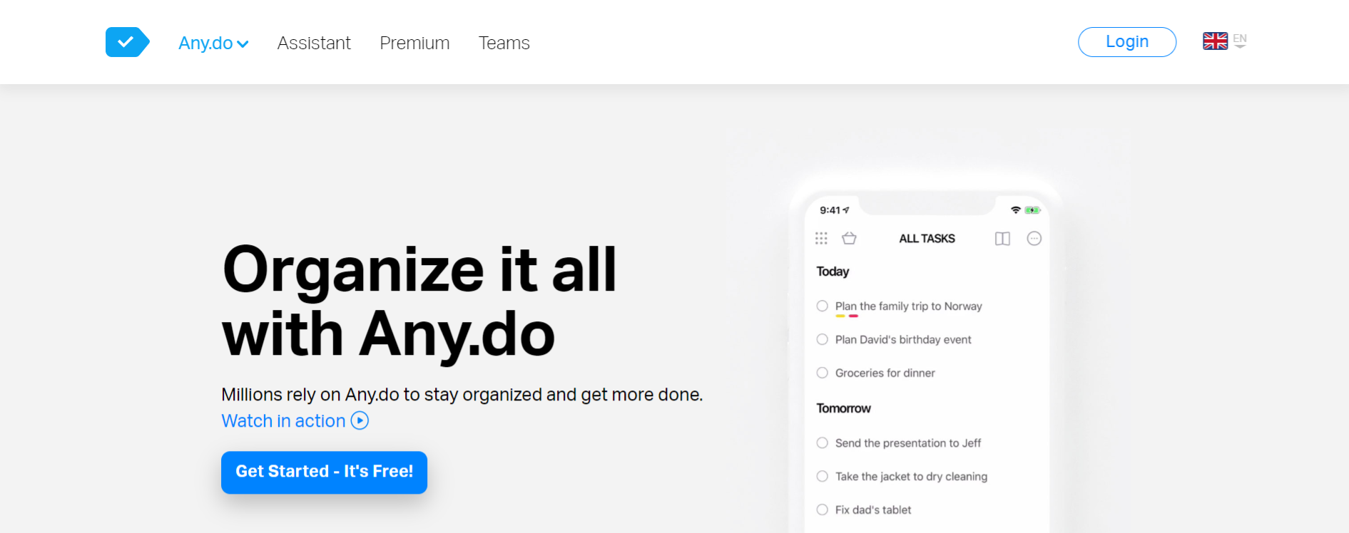 Any.do: Task management tool