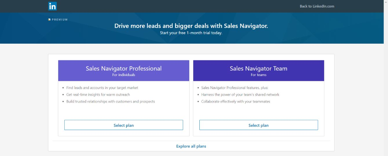 Linkedin sales navigator: Sales tool for prospecting