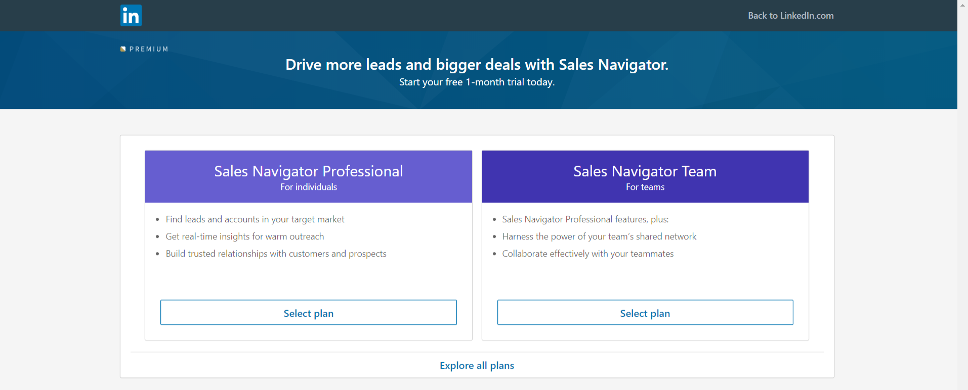 Linkedin sales navigator: Sales tool for prospecting