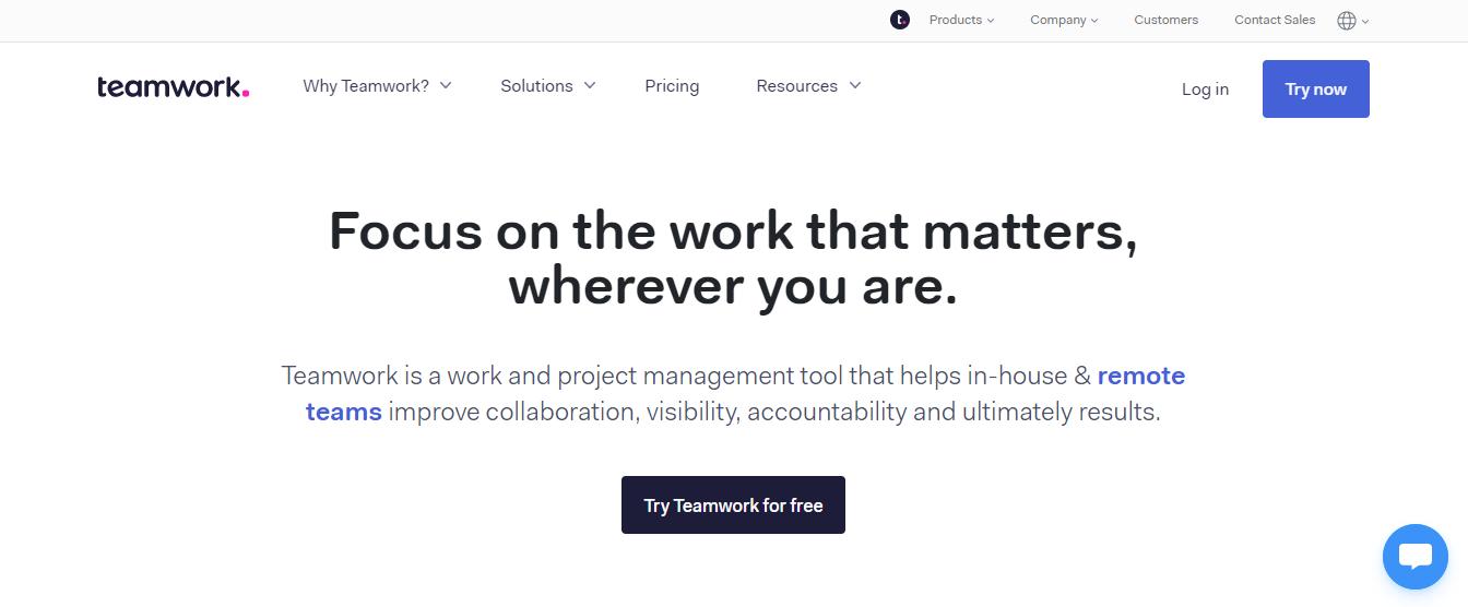 Teamwork: Task management tool