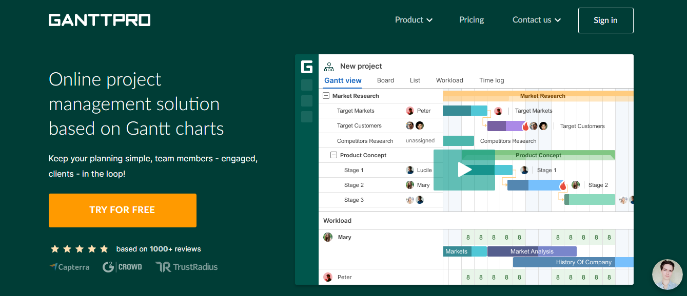 GanttPRO: Tool for researchers