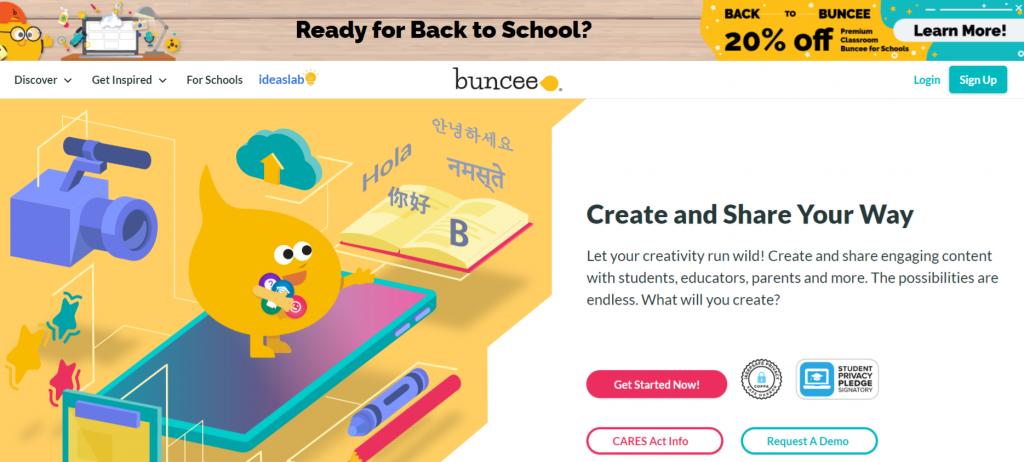 Buncee: Homeschooling app and tool
