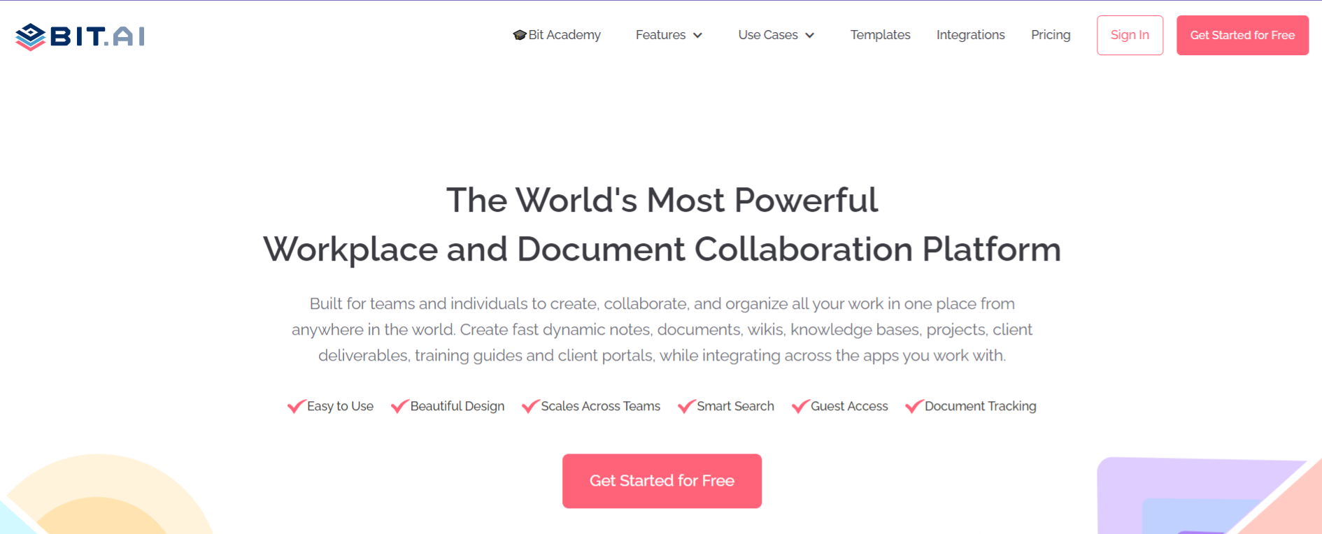 Bit.ai: tool to create a business plan