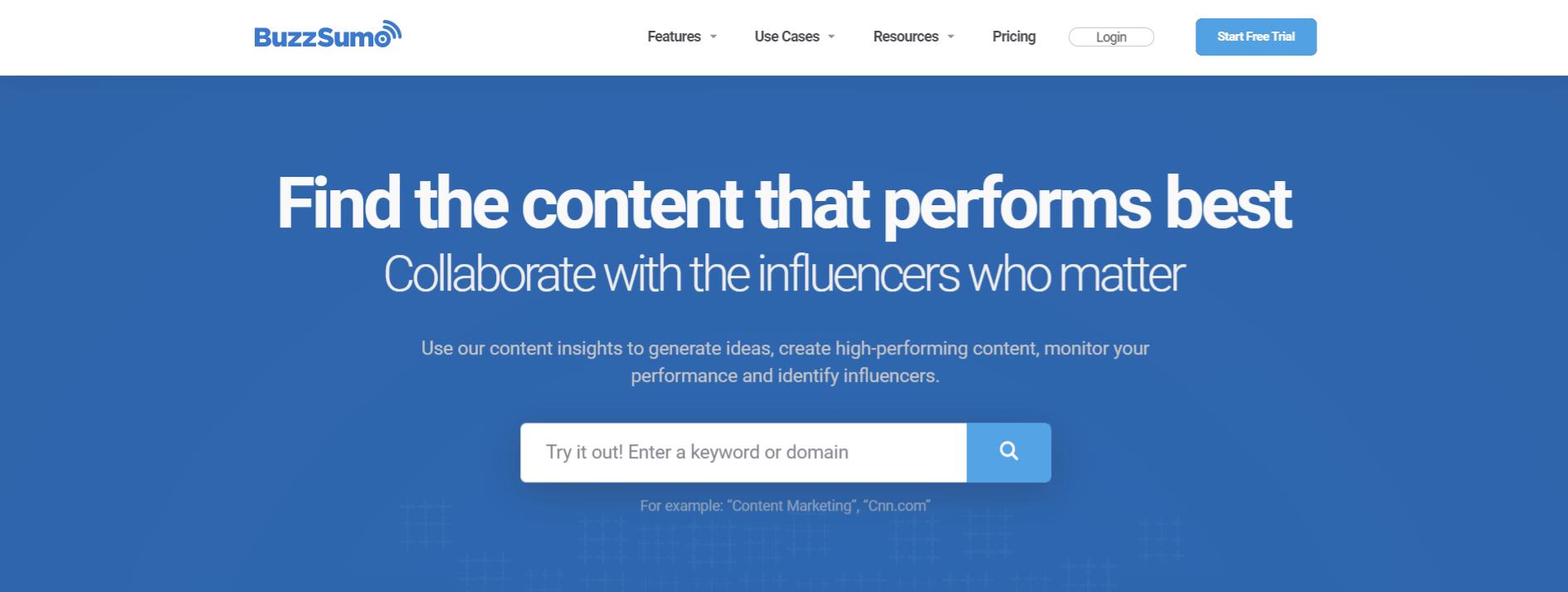 Buzzsumo: Content creation software