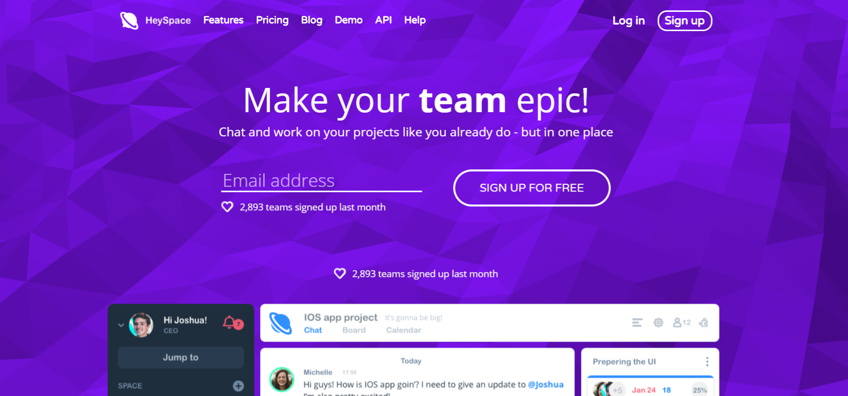 Heyspace: Workplace collaboration tool