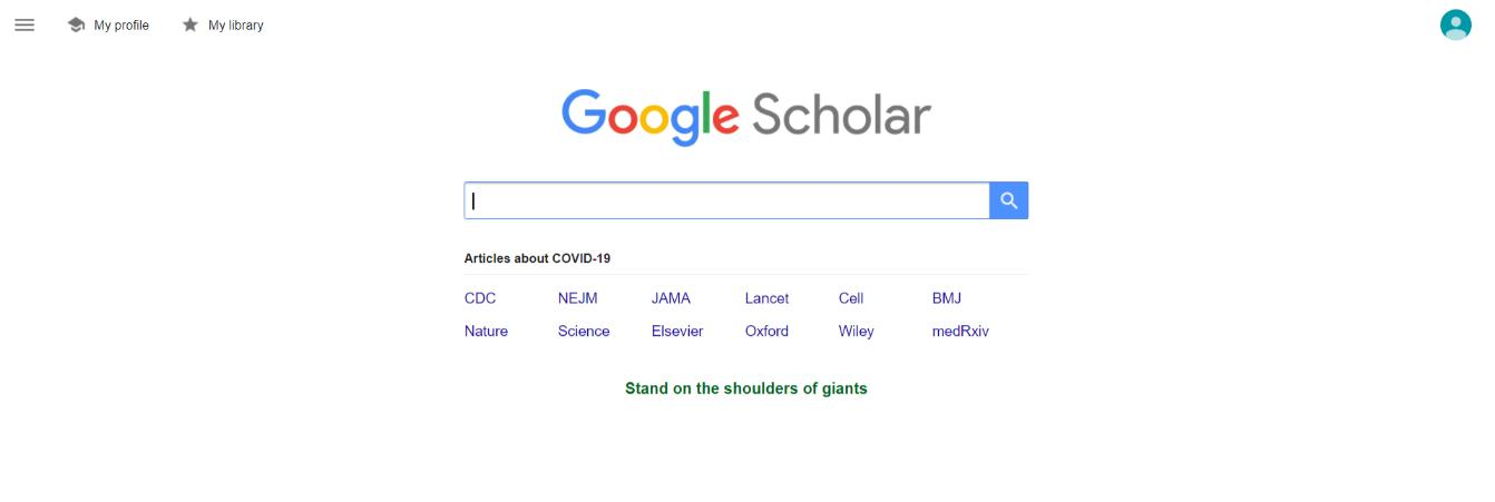 Google scholar for research work