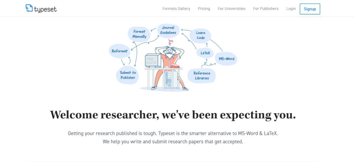 Typeset.io: Researcher's tool