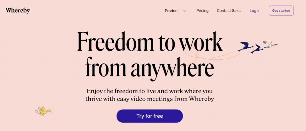 Whereby: Zoom alternative and competitor