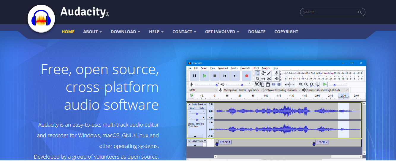 Audacity: Content creation software