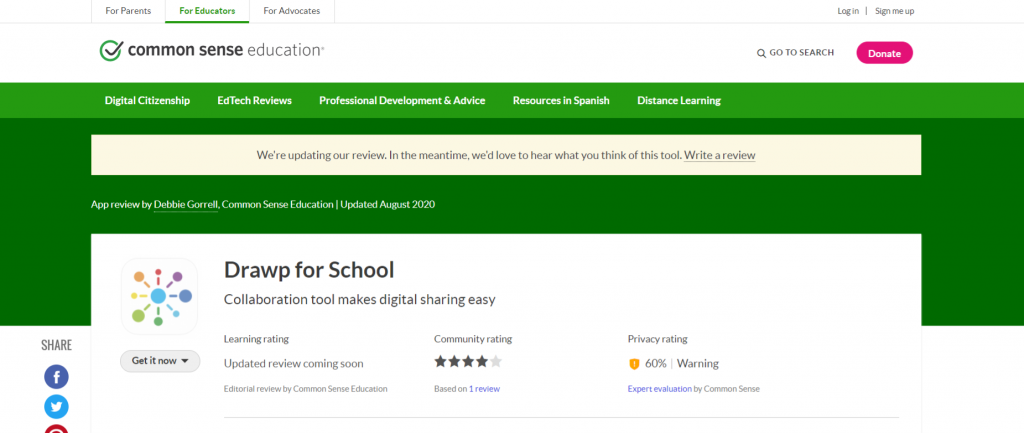 Drawp unlimited: Homeschooling app and tool