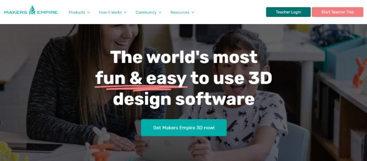 Makers empire: Homeschooling app and tool