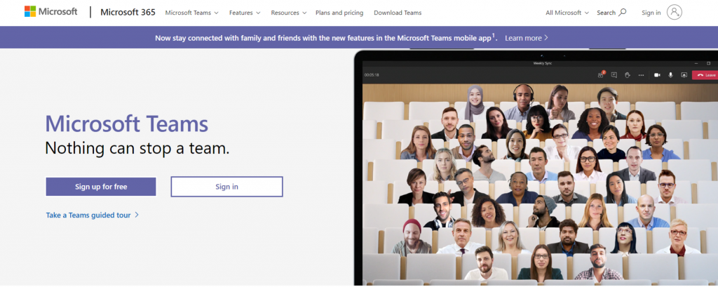 Microsoft teams: Zoom alternative and competitor