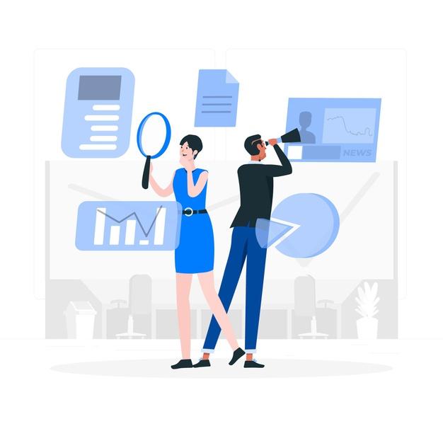 Employees analyzing project work data