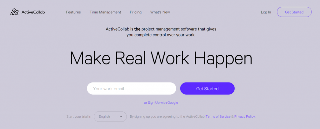 Active Collab: Microsoft project alternative