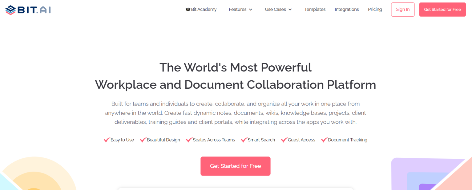 Bit.ai: Platform for knowledge sharing