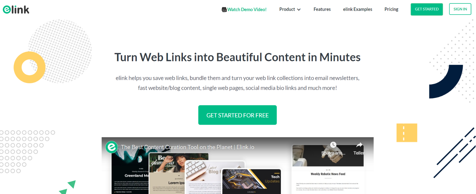 Elink.io: Student Tool for Content Curation