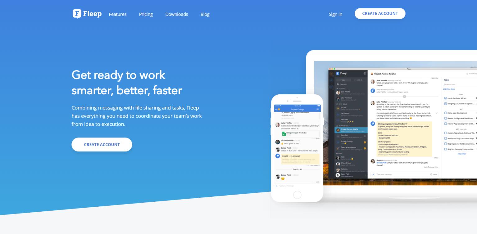 Fleep: Team management software
