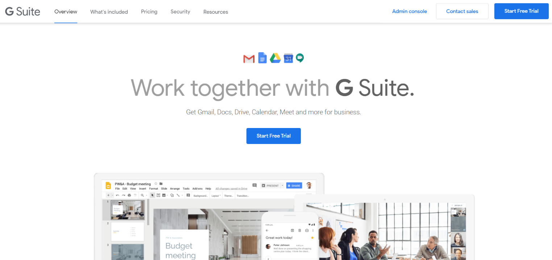 Google suite: Team management software