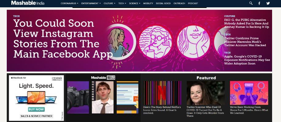 Mashable: Technology blog
