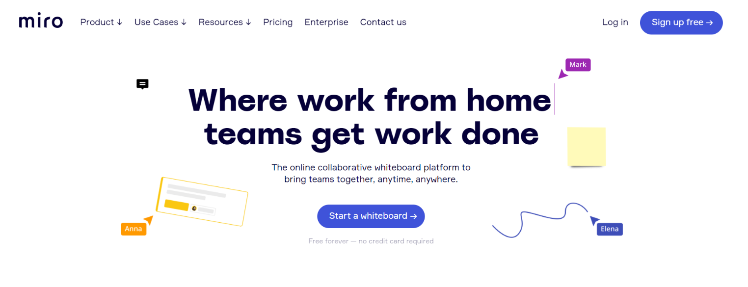 Miro: Whiteboard Tool for Businesses