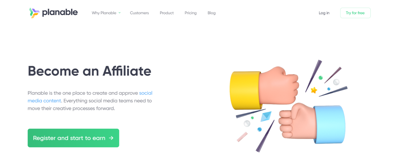 Planable affiliate program