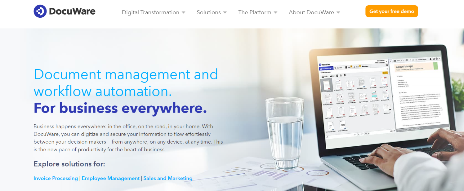 Docuware: File management software and system