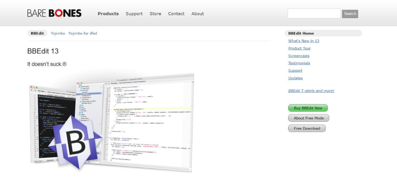 BBEdit: Code editor for developers