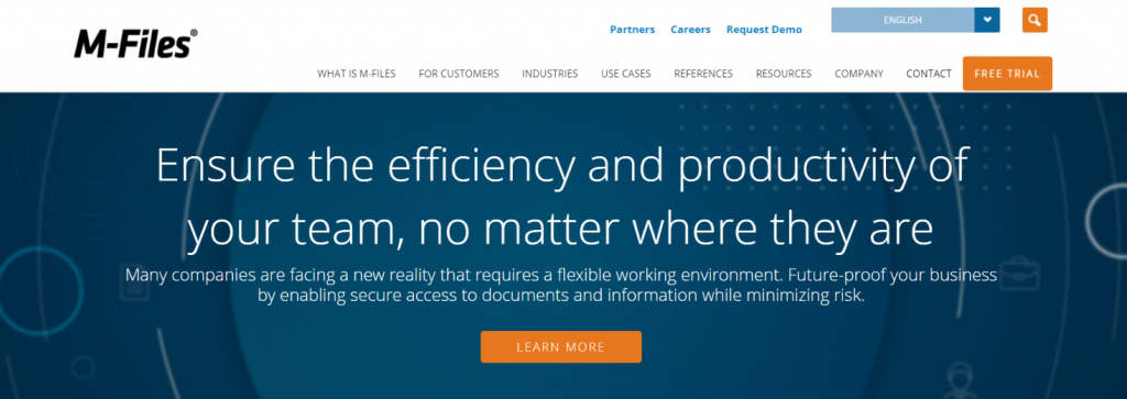 M-Files: File management software and system