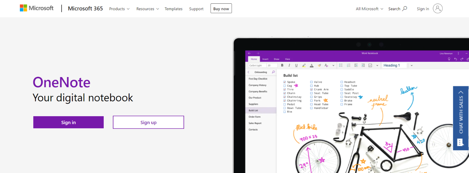 Onenote: Student tool for note-taking