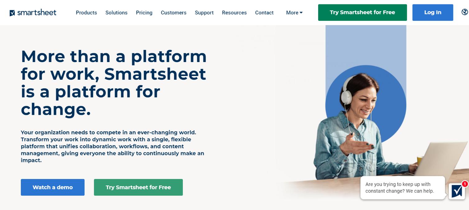 Smartsheet: Team management software
