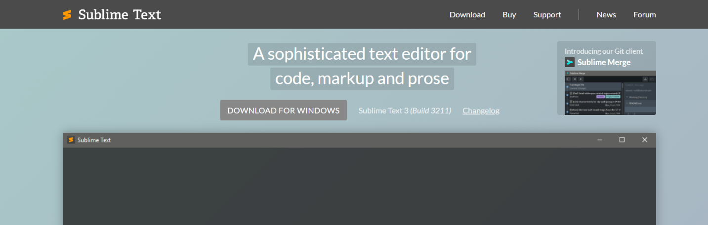 Sublime text: Code editor for developers