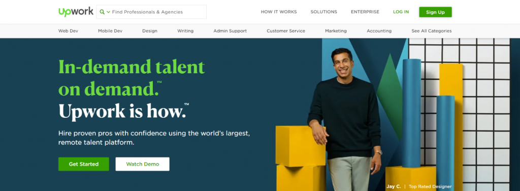 Upwork: Outsourcing tool for Businesses