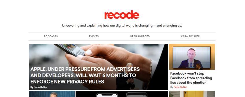 Recode: Technology blog