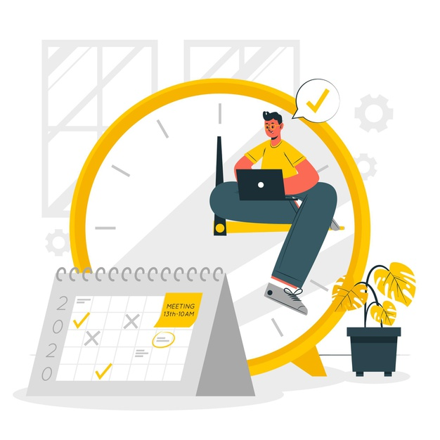 An employee manageing time efficiently by creating sops