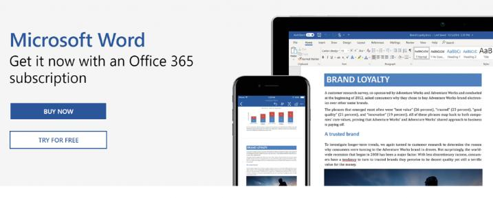 Microsoft word: Collaborative document editing software