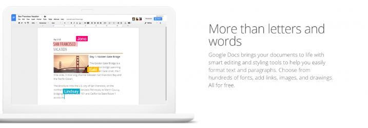 Google docs: Collaborative document editing software