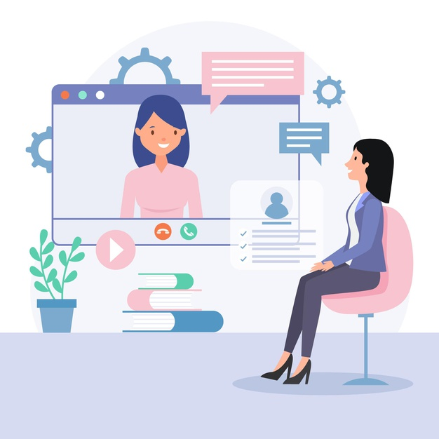 An Hr exceutive taking interview for hiring of a employee