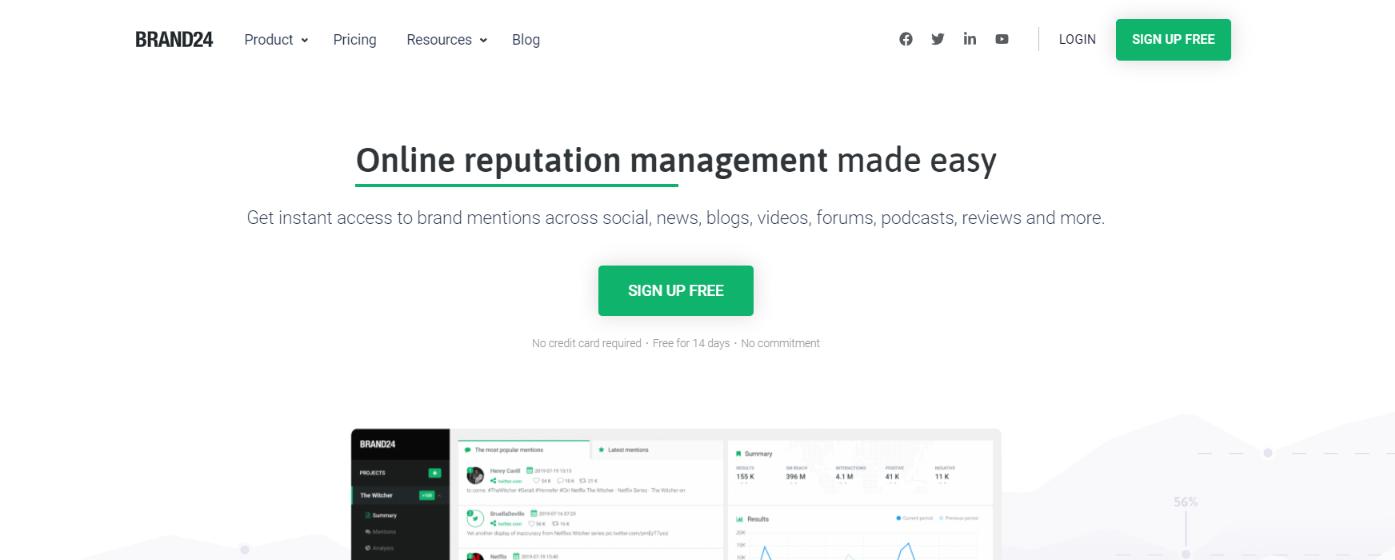 Brand24: Customer analytics tool and software