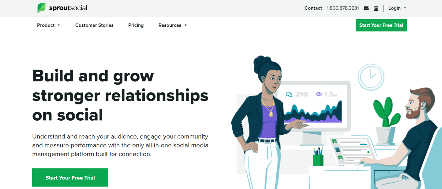 Sprout social: Customer analytics tool and software