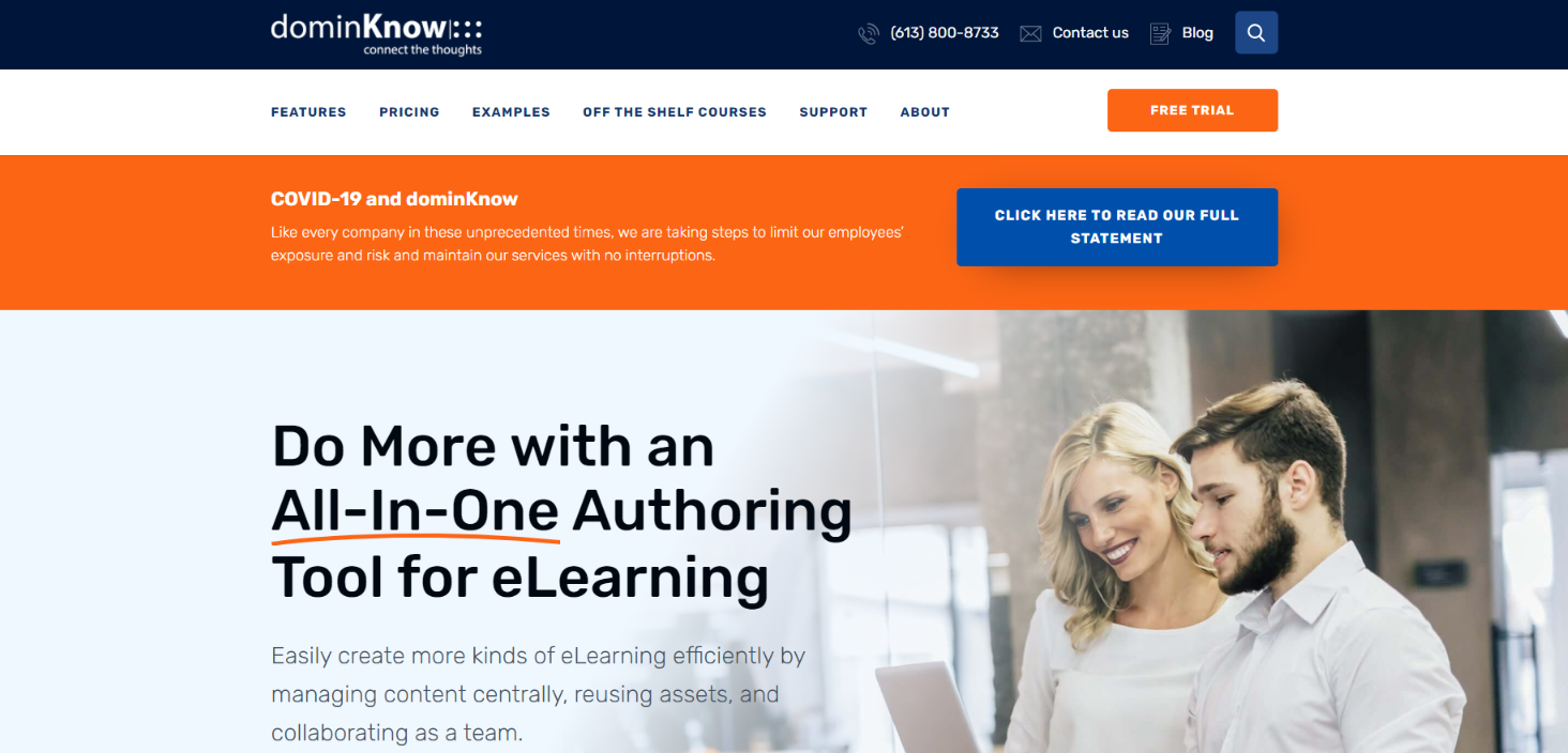 Dominknow: Authoring tool