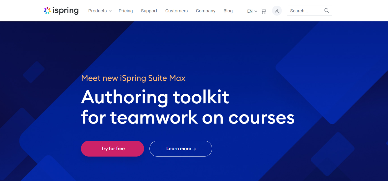 iSpring: Authoring tool