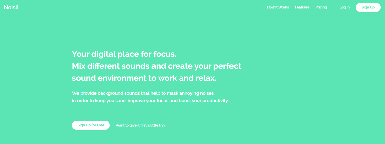 Noisli: Focus app