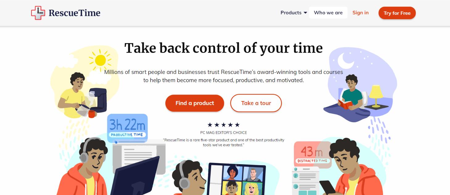 Rescue time: Focus app