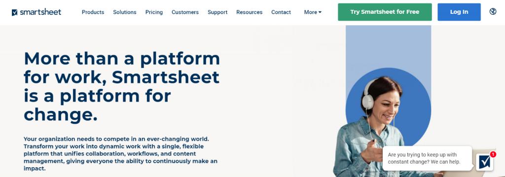 Smartsheet: Basecamp alternative