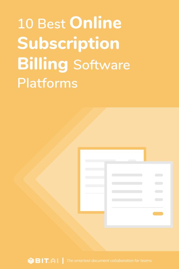 Online subscription billing software platforms - pinterest