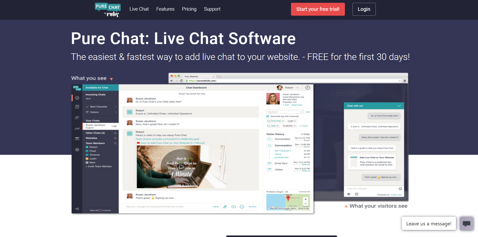 Pure chat: Live chat software