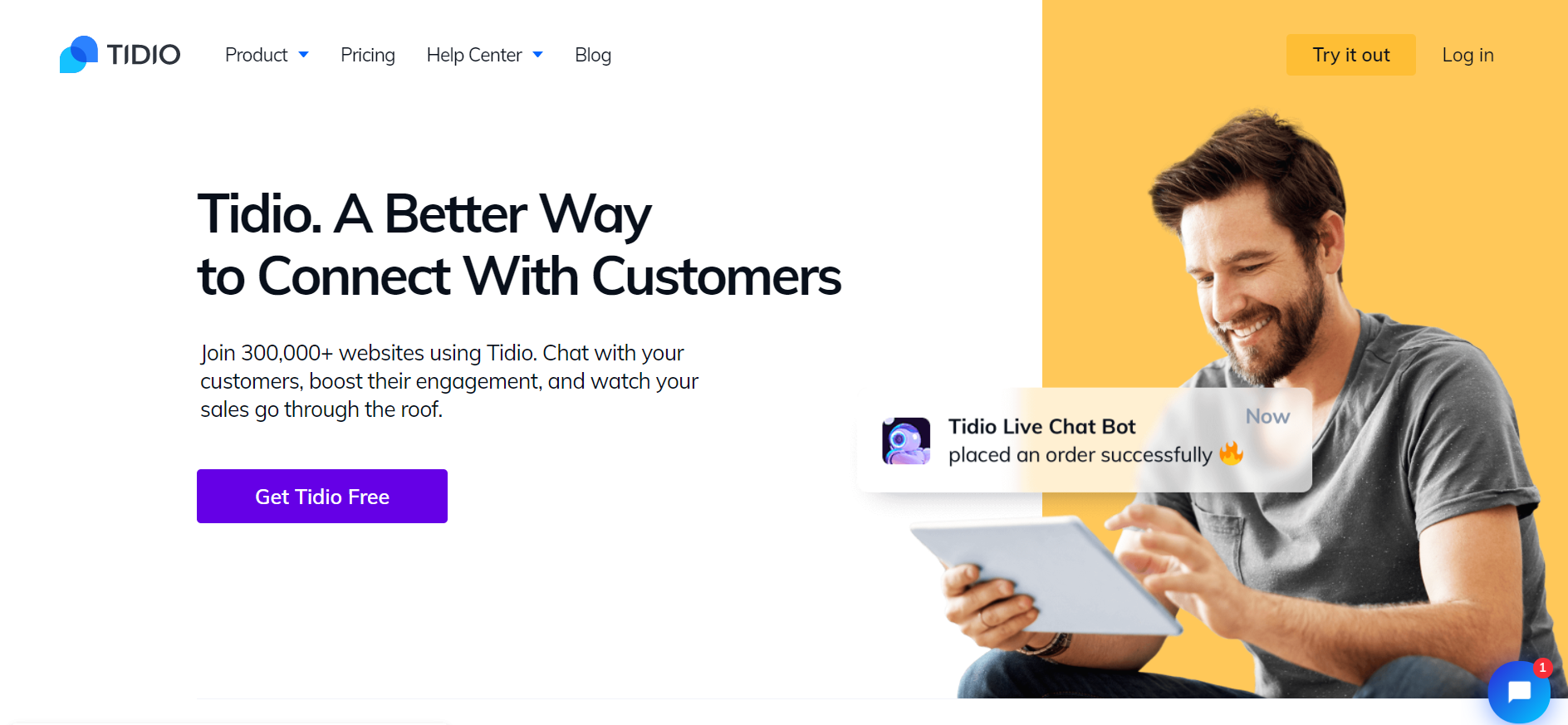Tidio: Live chat software