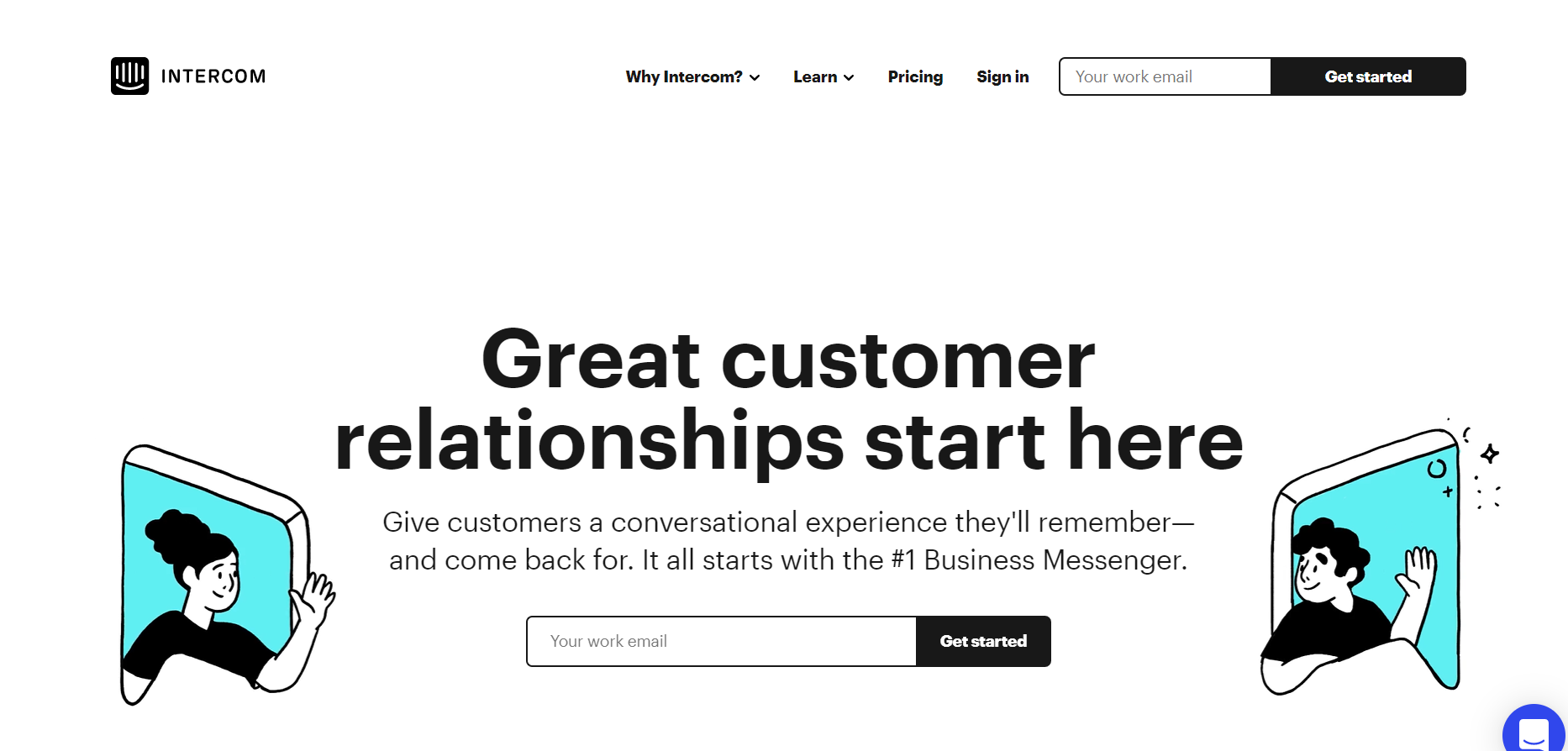 Intercom: Live chat software