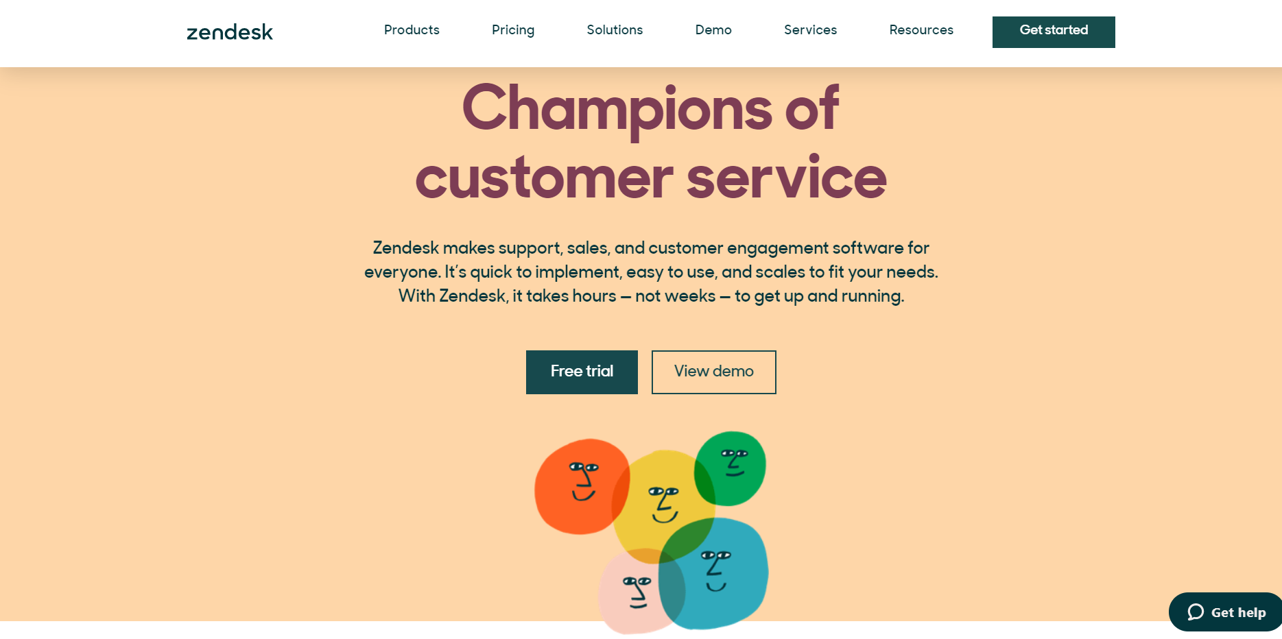 ZendesK: Live chat software